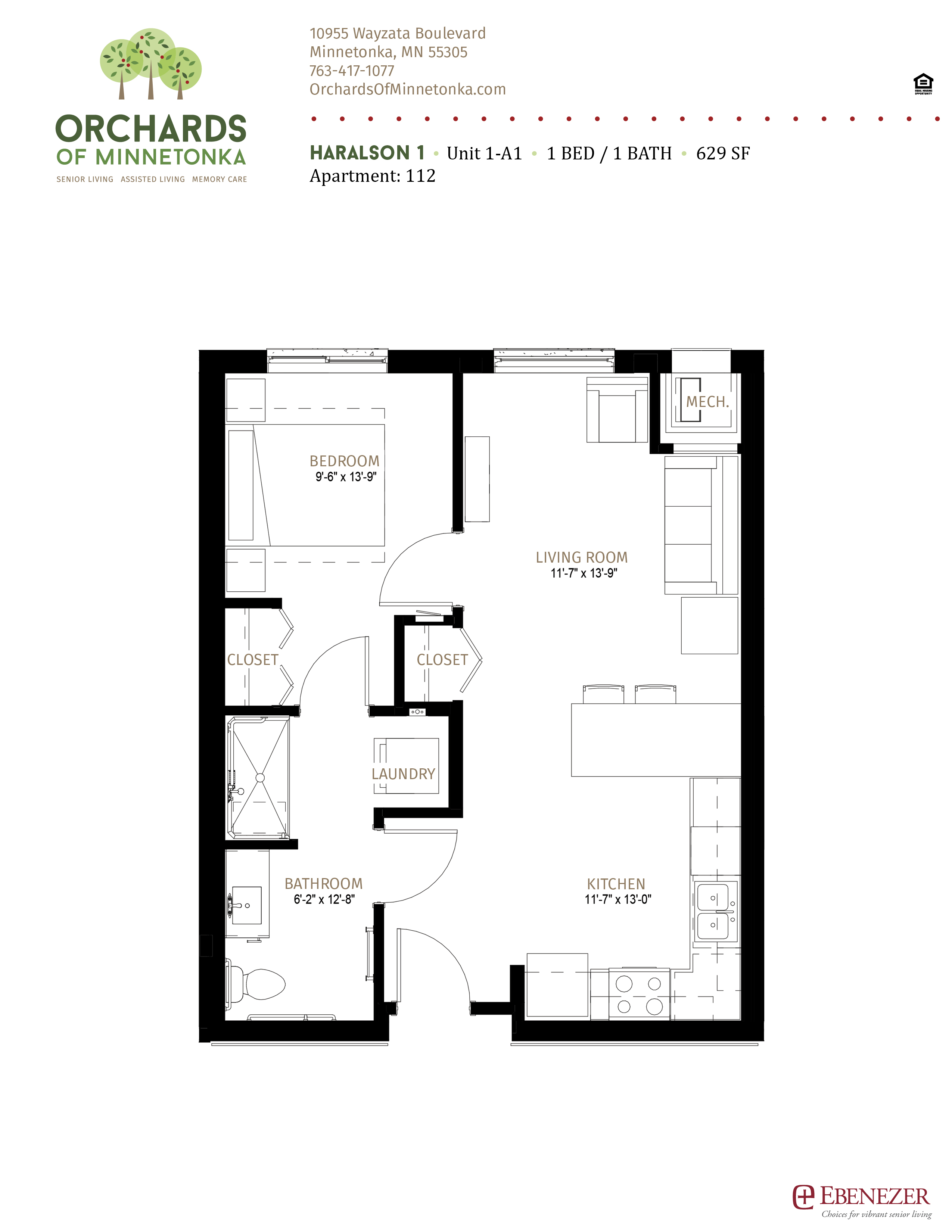 Orchards of Minnetonka - Haralson - Senior Living Unit 1 - A1