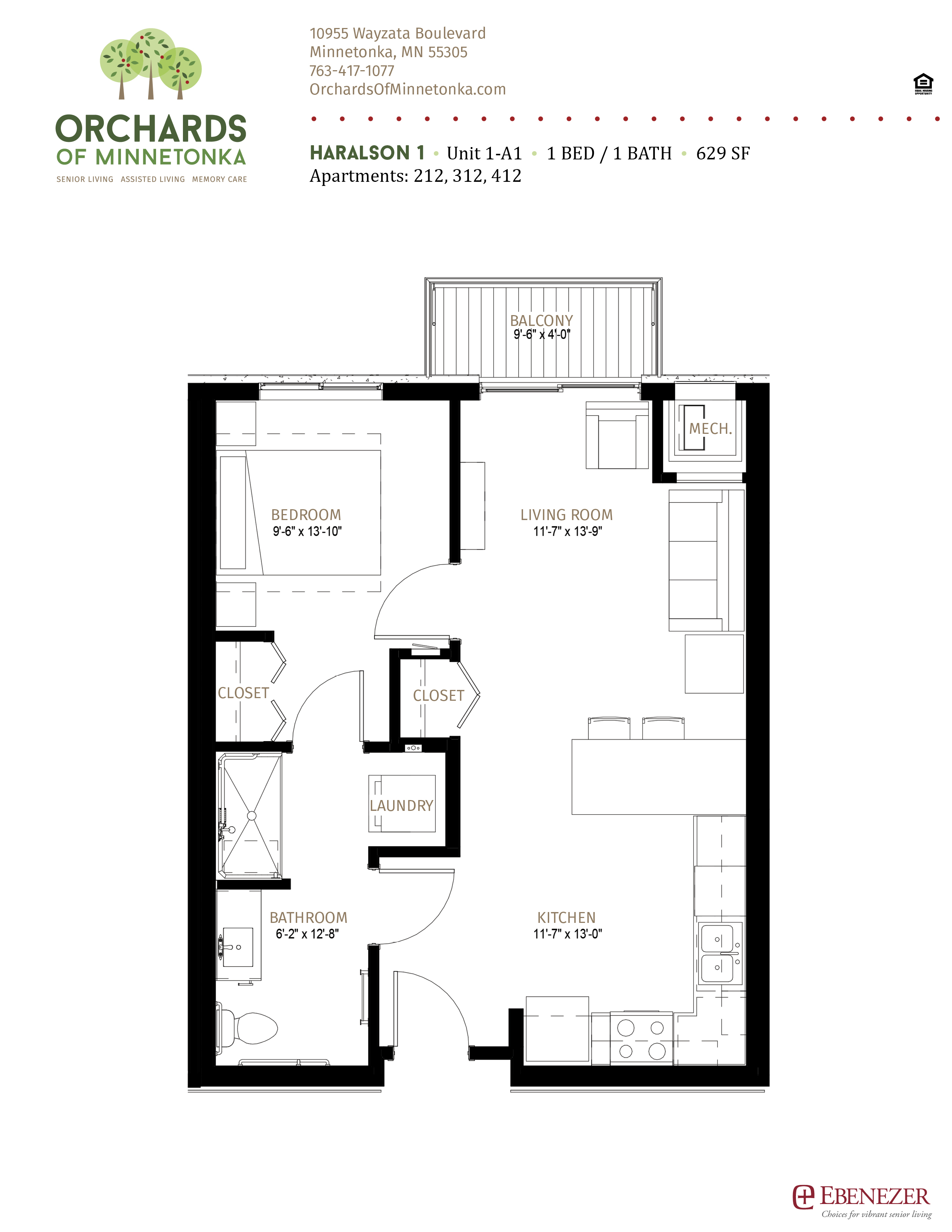 Orchards of Minnetonka - Haralson - Senior Living Unit 1 - A1B