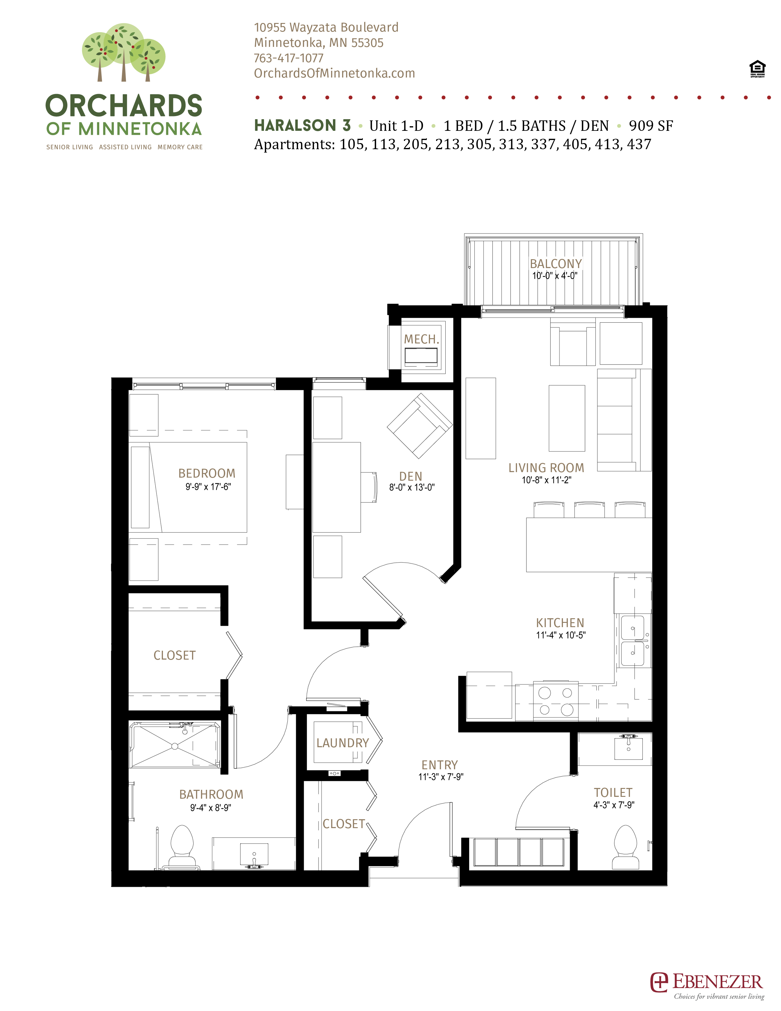 Orchards of Minnetonka - Haralson - Senior Living Unit 1 - D